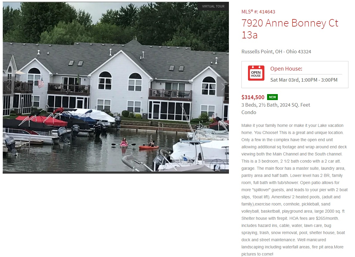 7920 Anne Bonney open house