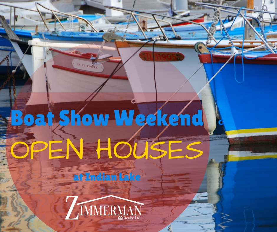 Boat show weekend open houses